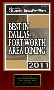 Best in Dallas Fort Worth Area Dining 2011