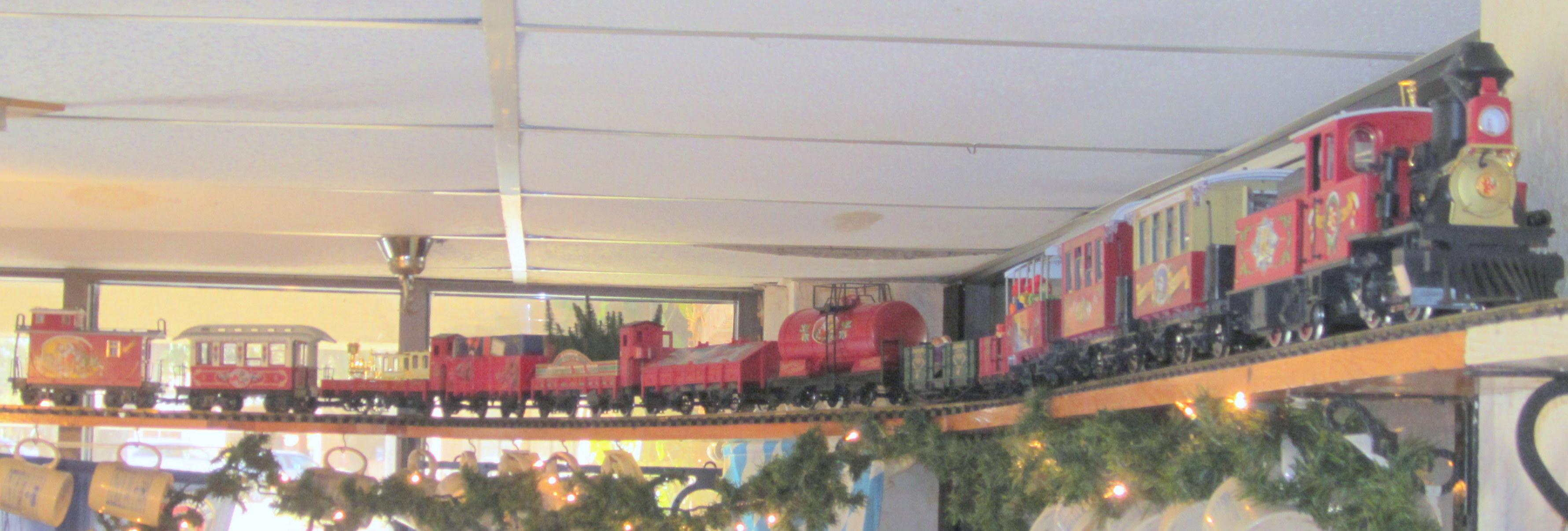 Christmas train Biergarten