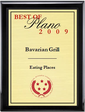 Best Restaurant in Plano 2009