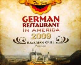 German restaurant 2009