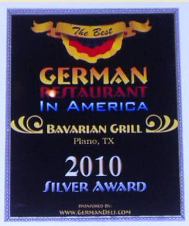 Voted #1 in the Nation - The Best German Restaurant in America 2010