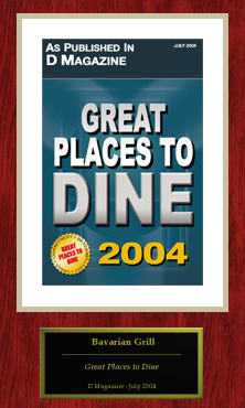 Great Places to Dine 2004