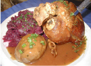 detail picture of schweinshaxe