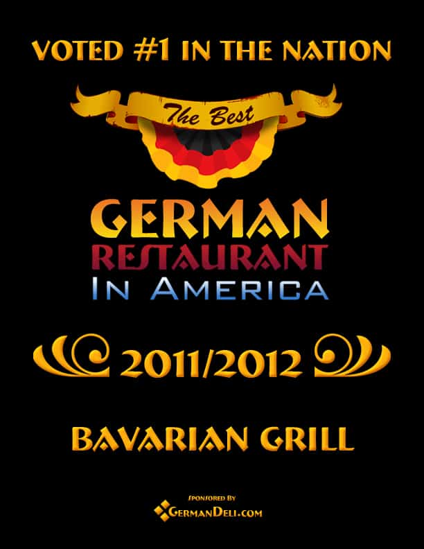 Voted #1 in the Nation - The Best German Restaurant in America 2011/2012